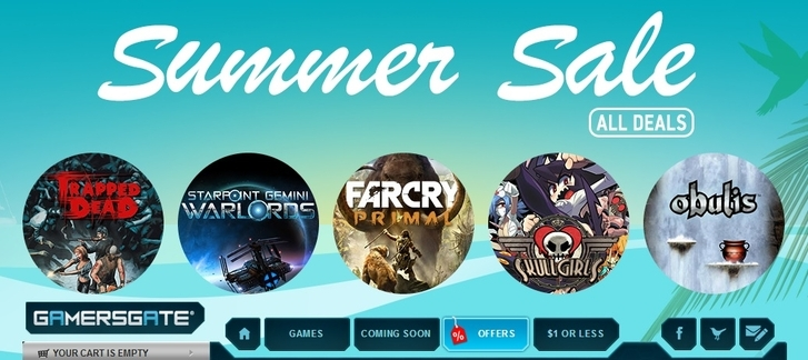GamersGate's Summer Sale - Aldorlea, Firefly, Little Green Men, Meridian, Ubisoft games