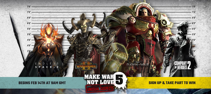 Make War Not Love 5 - The Unusual Suspects: 2 FREE GAMES!