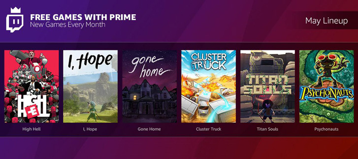 Free Games with Prime - May 2018